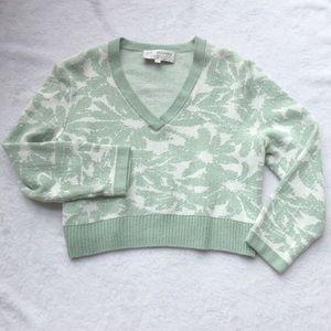 St. John V Neck Knit Sweater